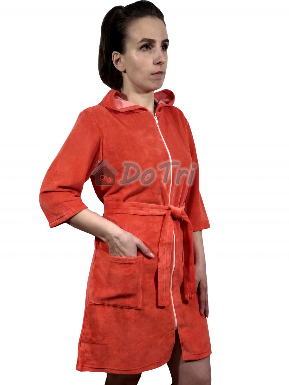Увеличить - Халат «Виола» арт 043 красно-оранжевый