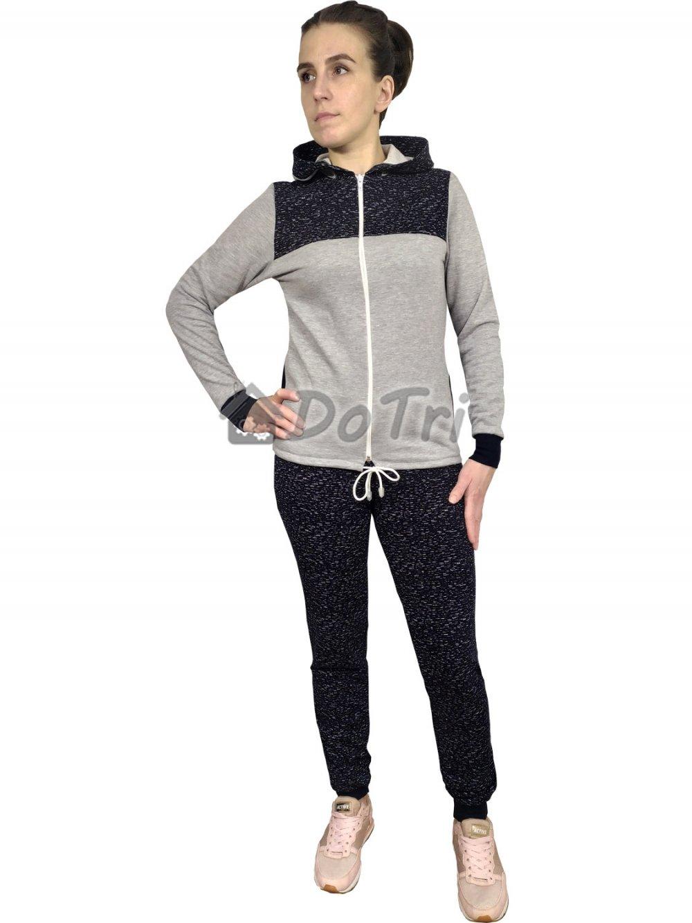 Увеличить - Спортивный костюм «Березка» серый меланж арт 002