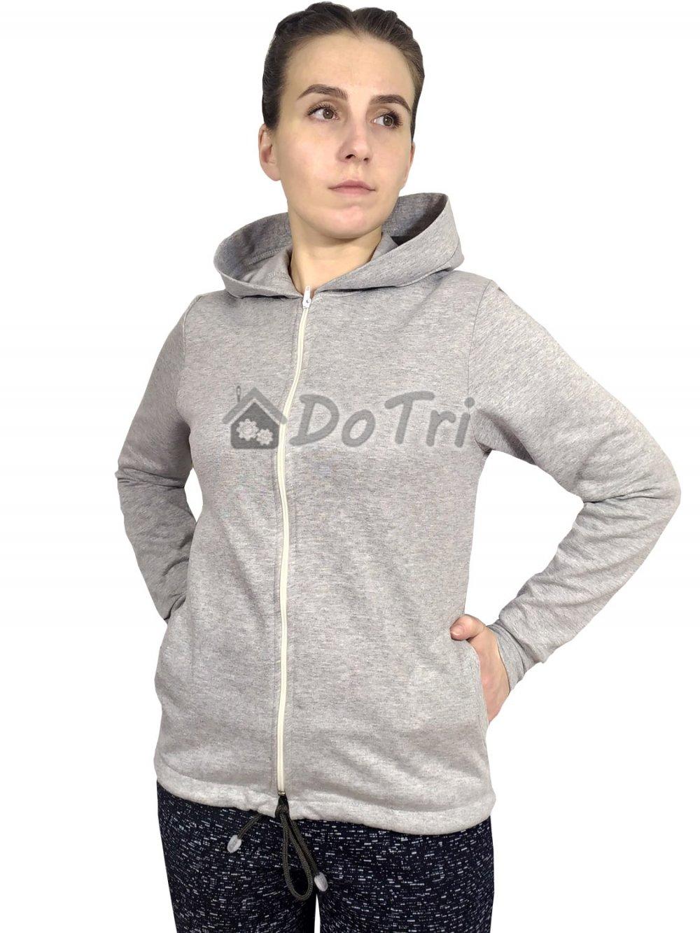 Увеличить - Толстовка с капюшоном арт 009 серый меланж