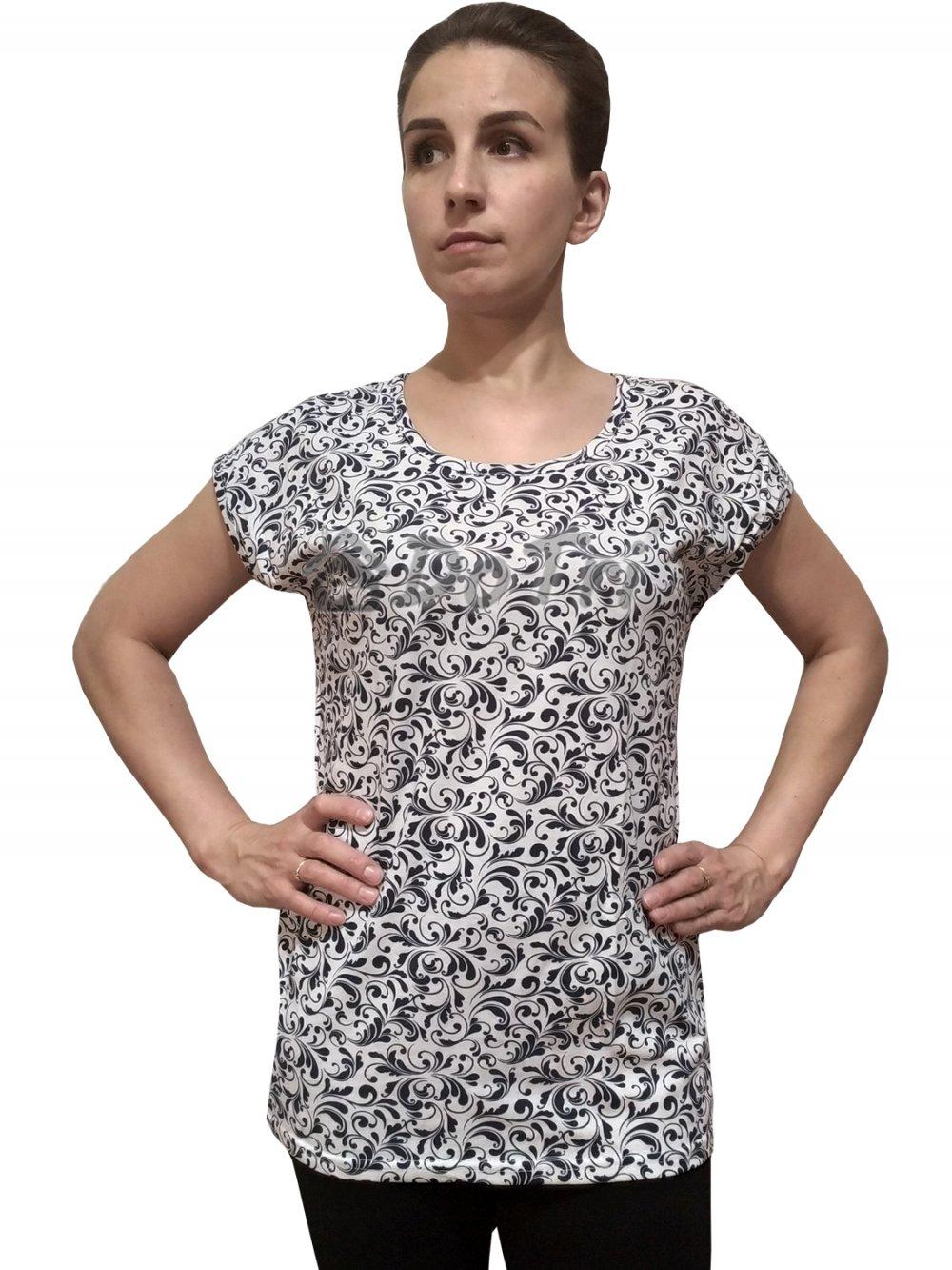 Увеличить - Блуза «Прима» (синие лепестки)