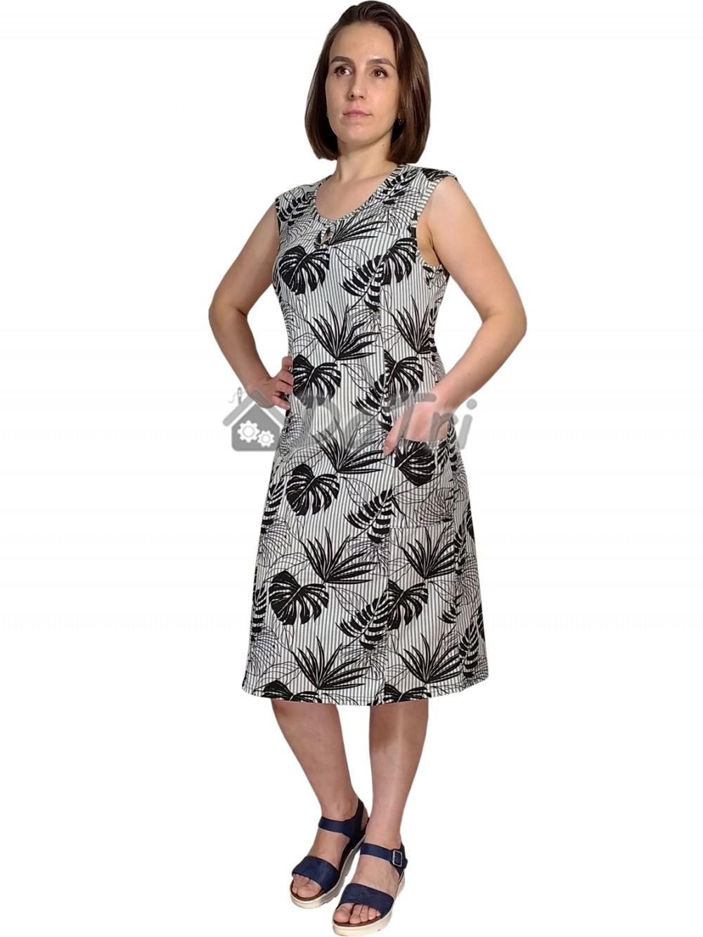 Увеличить - Сарафан «Капелька» арт 022 ветви пальмы