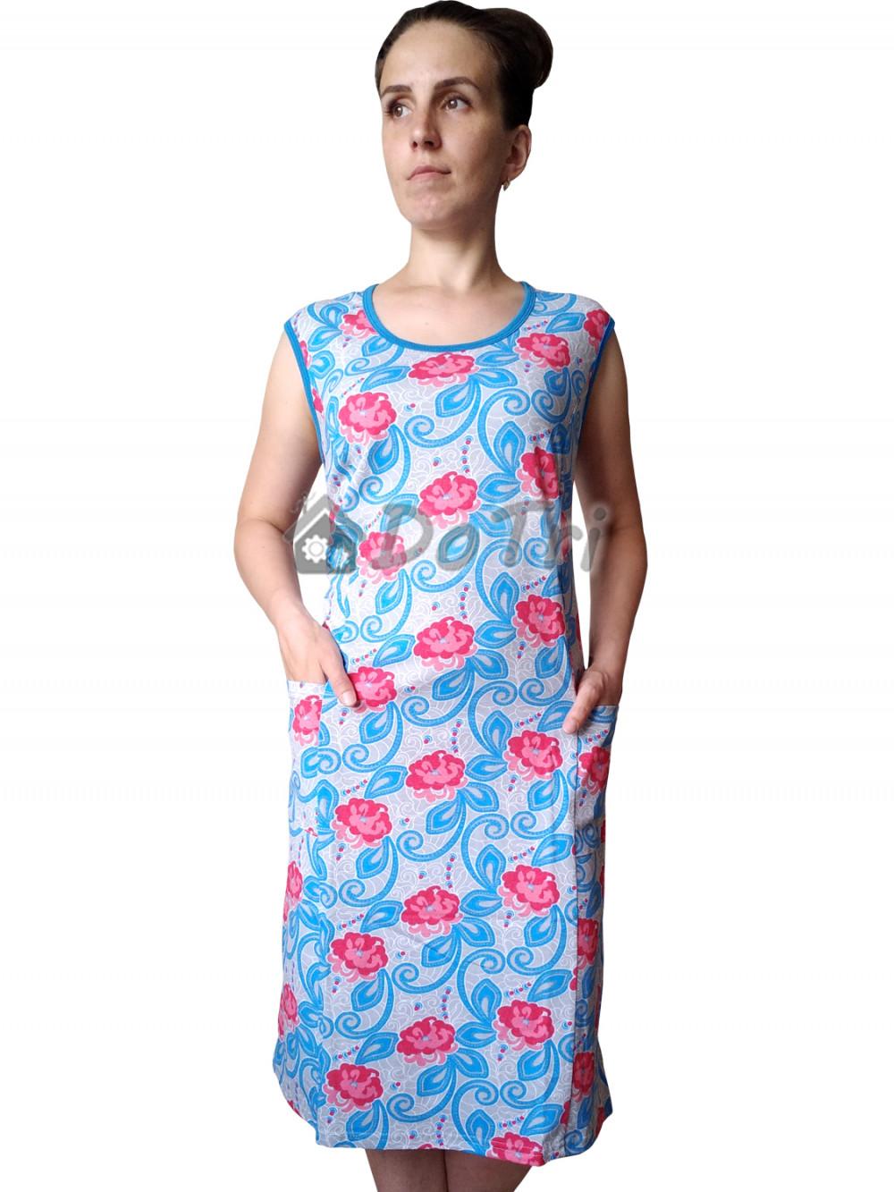 Увеличить - Платье арт 011 розовые цветы и вензеля, РАСПРОДАЖА
