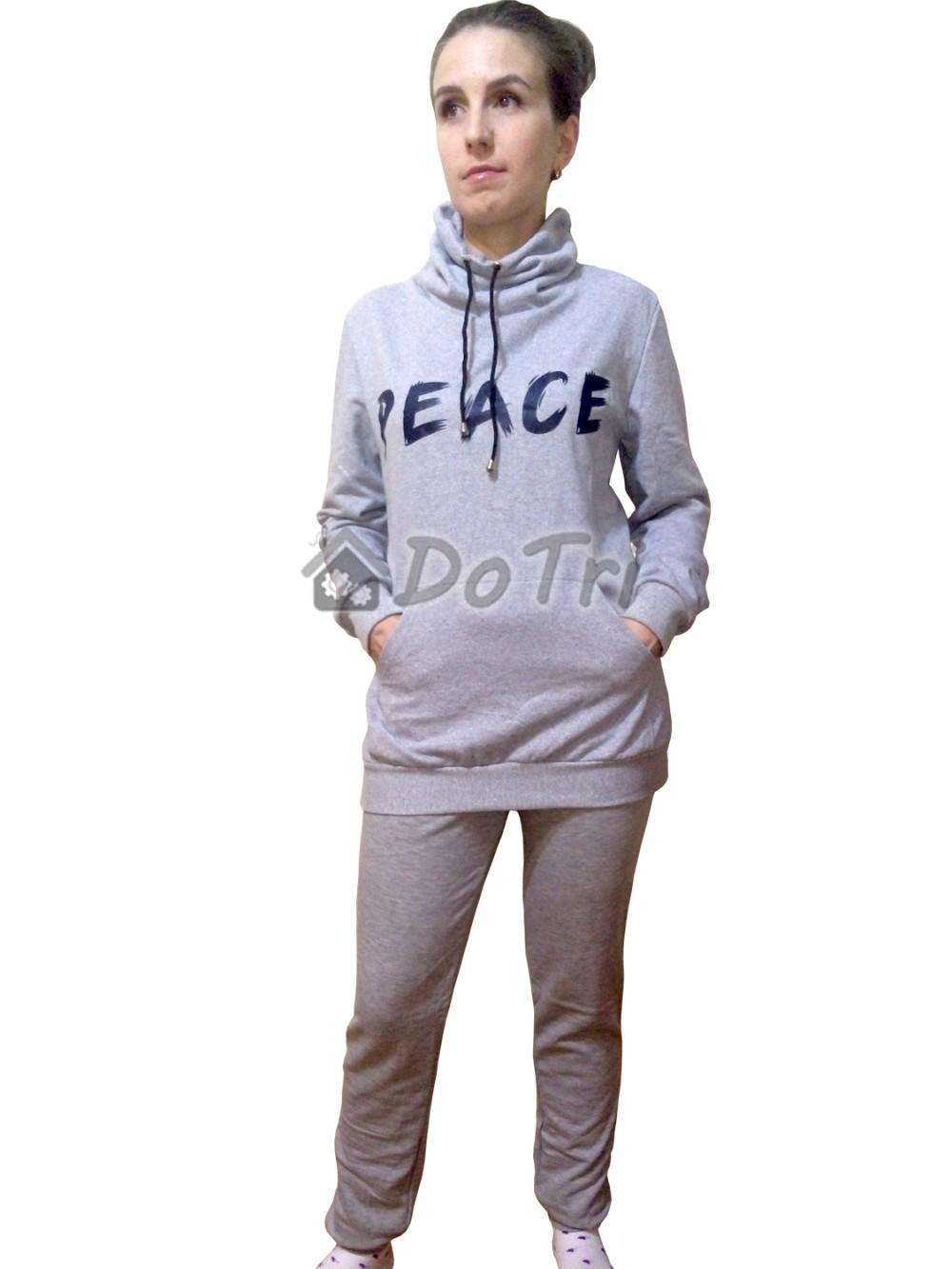 Увеличить - Спортивный костюм «Хомут» серый меланж арт 004