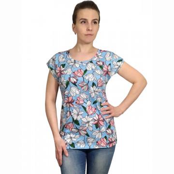 Блузка «Прима» арт 047 нежно голубая