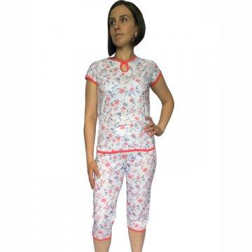 Пижама «Нежность» арт 004 коралловые цветы