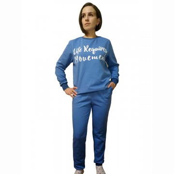 Спортивный костюм «Движение» голубой арт 008
