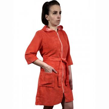 Халат «Виола» арт 043 красно-оранжевый
