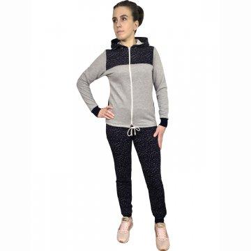 Спортивный костюм «Березка» серый меланж арт 002