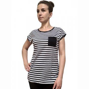 Блузка «Морячка» в темно-синию полосу