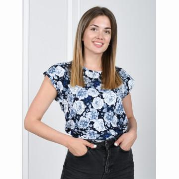Блуза «Прима» арт 053 синяя