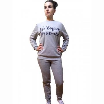Спортивный костюм «Движение» серый меланж арт 006